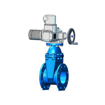 Gate valve / electrically-actuated / for water / flange