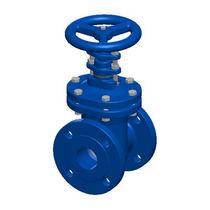 Cast iron valve / gate / with handwheel / for water
