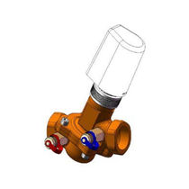 Pressure-independent valve / diaphragm / electrically-actuated / control