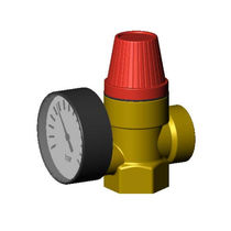 Compressed air safety valve / for water / threaded