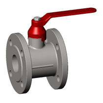 Ball valve / lever / flange / nickel-plated brass