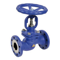 Cast steel valve / globe / with handwheel / for water
