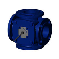 4-way valve / manual / mixing / for water