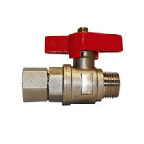 Pressure gauge valve / ball / manual / for water