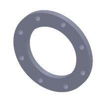 Pipe flange / steel / flat