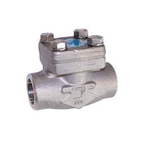 Stainless steel check valve / ball / weld / for steam