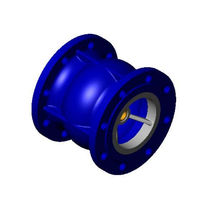 Axial check valve / flange / for water / cast iron