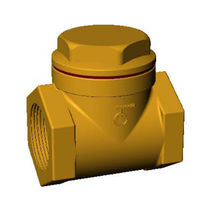 Bronze check valve / swing / threaded / for water