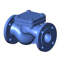 Cast iron check valve / lift / flange / for water systems