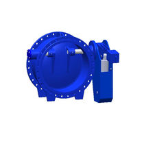 Butterfly check valve / flange / for water / cast iron