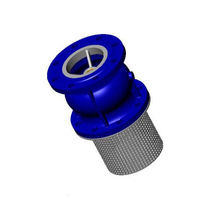 Foot check valve / flange / for water systems / cast iron