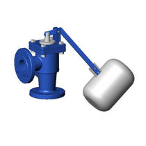 Cast iron valve / float / for water / flange