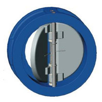 Cast iron check valve / dual plate / wafer / for water