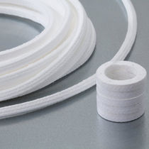 Braided PTFE packing / chemical-resistant / for the chemical industry / for pumps