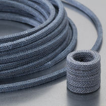 Braided PTFE packing / aramid yarn / carbon / chemical-resistant