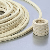 Braided PTFE packing / aramid yarn / chemical-resistant / for the chemical industry