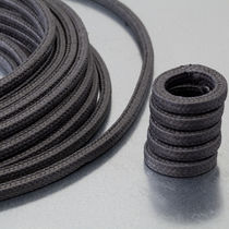 Braided graphite packing / PTFE / for rotary applications / for high-speed pumps