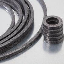 Braided graphite packing / PTFE / synthetic yarn / for rotary applications