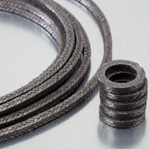 Braided graphite packing / carbon / for high-pressure applications / high-temperature