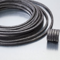 Braided graphite packing / carbon / high-temperature / for valves