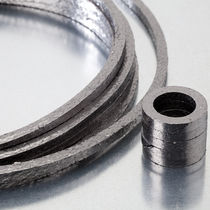 Braided graphite packing / carbon / for rotary applications / for valves
