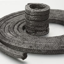 Braided graphite packing / carbon / high resistance / for high-pressure applications