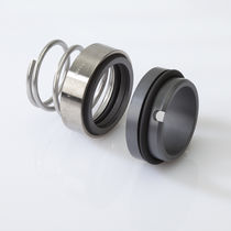 Spring mechanical seal / for pumps / for corrosive liquids / rubber