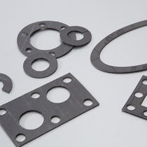 Aramid gasket sheet / carbon / flange / for chemical applications