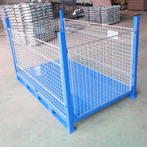 Steel pallet box / wire mesh / storage / folding