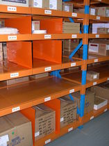 Storage warehouse shelving / for long items