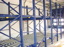 Pallet shelving / for medium loads / lightweight / dynamic