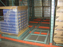 Push-back shelving / storage warehouse / dynamic
