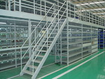 Self-supporting shelving / for heavy loads / archival / with mezzanine