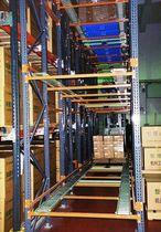 Push-back shelving / for heavy loads / box / high-rise