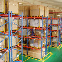 Pallet shelving / merchant / storage warehouse / for heavy loads