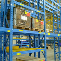 Pallet shelving / for heavy loads / for empty and full cartons / adjustable