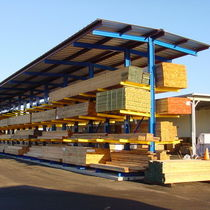 Storage warehouse shelving / cantilever / for heavy loads / for long items