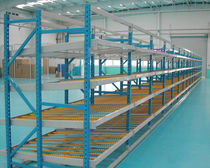 Flow shelving / steel / aluminum