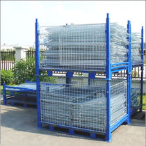 Metal pallet box / wire mesh / storage / folding