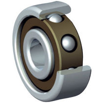 Ball bearing / angular-contact / stainless steel / chrome steel