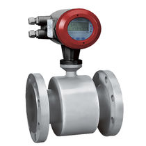 Electromagnetic flow meter / for liquids / flange