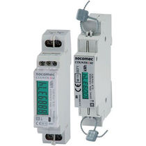 Electric energy meter / DIN rail / single-phase / with LCD display