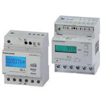 Electric energy meter / DIN rail / three-phase / with LCD display