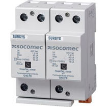 Type 1 surge arrester / type 2 / DIN rail / low-voltage