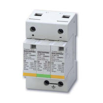 Type 2 surge arrester / DIN rail / for PV installations