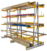 Cantilever shelving / for long items / adjustable
