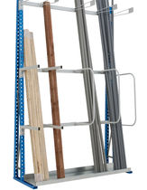 Single-sided storage shelving / for long items / galvanized