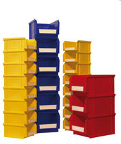 Container with storage bins