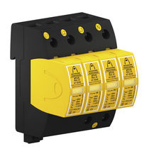 Type 2 surge arrester / three-phase / compact / DIN rail