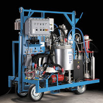 Paint spray unit / pneumatic / for protective coverings / airless